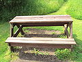 Picnic bench, Stoak Nature Park, Cheshire - DSC06327.JPG