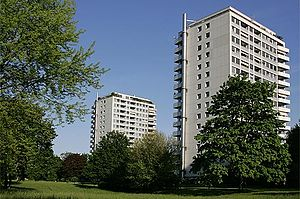 Birsfelden - Rheinpark high-rise apartment complex