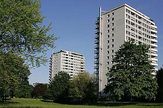 Birsfelden - Rheinpark high-rise apartment complex