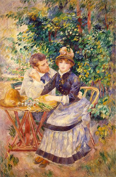"Pierre Auguste Renoir, ""Nel Giardino"", 1885, olio su tela, Museo dell'Hermitage, San Pietroburgo"