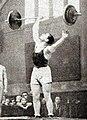 Pierre Alleene, recordman du monde des poids moyens à l'arraché, en mars 1933 (91,5kg).jpg