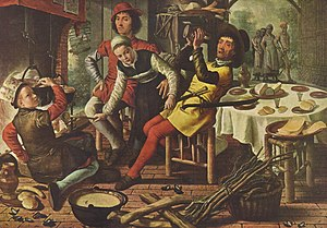Peiraikos - A kitchen scene by Pieter Aertsen, who was compared to Peiraikos