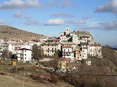 Scorcio di Pietransieri, dove era situato uno dei 4 GPM odierni. La tappa, divisa tra Abruzzo e Molise, era dedicata alla memoria di Vito Taccone.