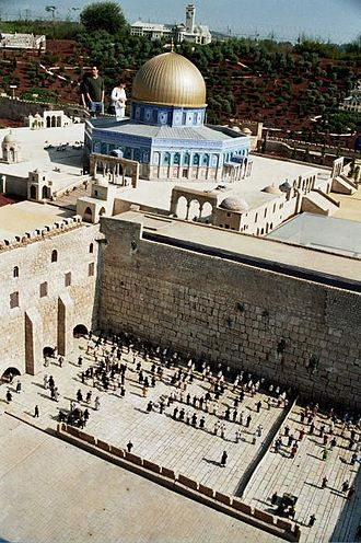 Miniature park - Temple Mount and Western Wall at Mini Israel
