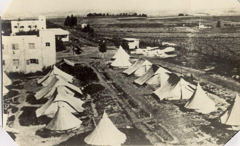 מחנה אוהלים  ברמת הכובש
