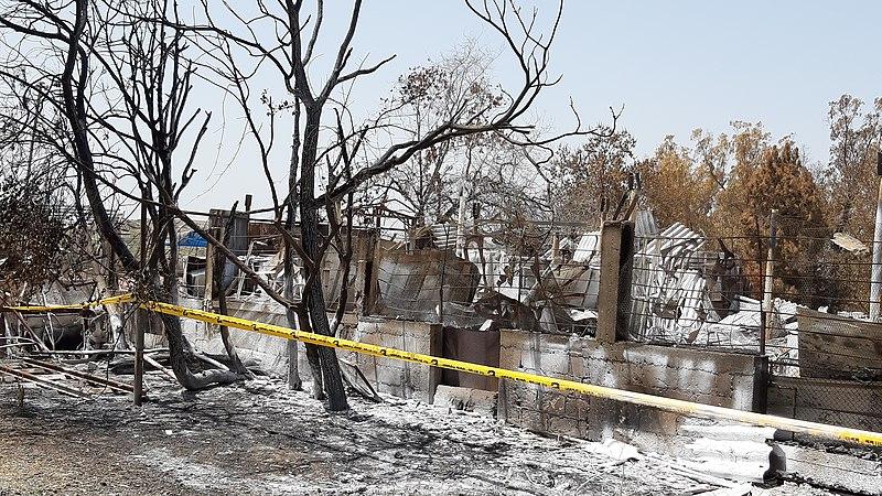 שריפה בקיבוץ הראל 2019