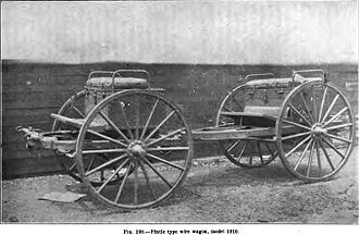 K-4 cart - Pintle type wire wagon, model 1910