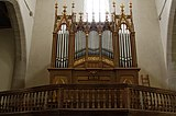 Pipe organ - Franziskanerkirche - Rothenburg ob der Tauber - Germany 2017.jpg