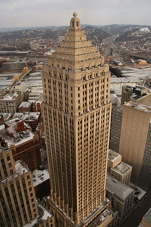Gulf Tower in downtown Pittsburgh, Pennsylvania.