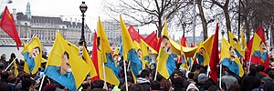 Kurdistan Workers' Party - PKK supporters at 2003 march, London