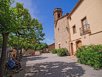 Carme, Anoia - Sant Martí church square