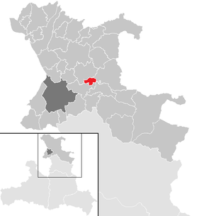 Location of the municipality of Plainfeld in the St. Johann im Pongau district (clickable map)