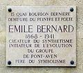 Plaque Émile Bernard, 15 quai de Bourbon, Paris 4.jpg