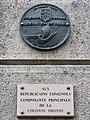 Plaque La Nueve, 9 place de l'Hôtel-de-Ville - Esplanade de la Libération, Paris 4e.jpg