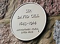 Plaque on Sir David Gill's House - geograph.org.uk - 1802732.jpg