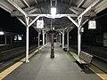 Platform of Arita Station at night.jpg
