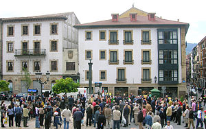 Tribute to Miguel de Unamuno in Unamuno Square...