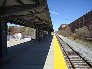 North Plymouth, Massachusetts - The Plymouth MBTA station in North Plymouth