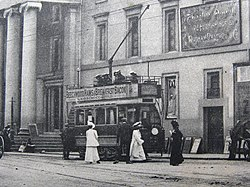Plymouth tram at Theatre for Peverell cropped.jpg