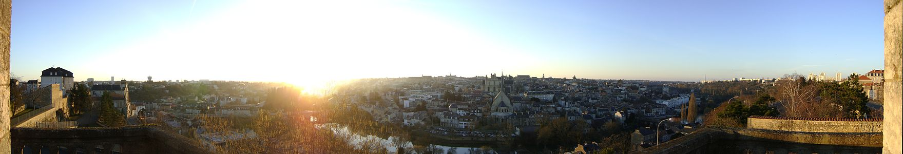 Panoramic view of Poitiers at sunset Poitiers