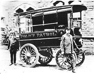 Police car - Police Car, Akron, Ohio, 1899