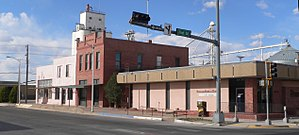 National Register of Historic Places listings in Roosevelt County, New Mexico - Image: Portales, NM, Main NW of 1st, NE side 2