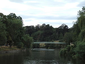 The Quarry (park) - Porthill Bridge crossing the River Severn at The Quarry