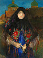 Portrait of a wealthy peasant woman by F. Malyavin.jpg