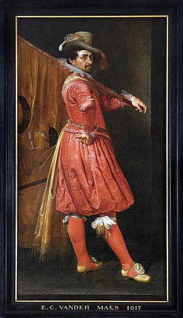 Portret Willem Jansz Cock, vaandeldrager Oranje Vendel, 1617