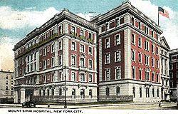 PostcardNewYorkNYMountSinaiHospital1920.jpg