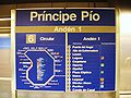 Príncipe Pío (Madrid) Línea 10 de metro (6).jpg