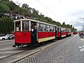 Průvod tramvají 2015, 11b - tramvaj 2222 a 1111 a 1219.jpg