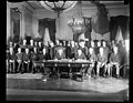President Coolidge signs Kellogg Treaty. President Coolidge today formally signed the document of ratification of the Kellogg treaty before a distinguished gathering in the east room of the LCCN2016889136.jpg