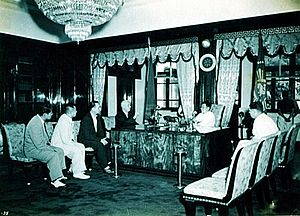 Land reform in the Philippines - President Ramon Magsaysay at the Presidential Study, Malacañan Palace