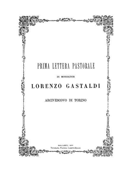File:Prima lettera pastorale di monsignor Lorenzo Gastaldi arcivescovo di Torino.djvu