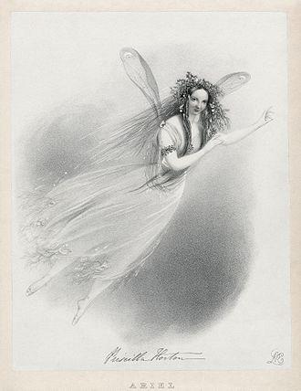 Priscilla Horton - Horton as Ariel in The Tempest, 1838