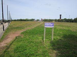 Private land near Egerton Dock, Birkenhead.JPG