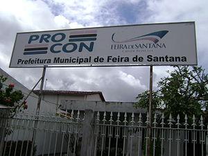 Unidade do Procon em Feira de Santana, Bahia.