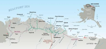 Prudhoe Bay Alaska Map.Prudhoe Bay Oil Spill Wikiwand