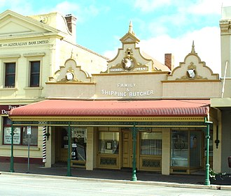 Port Pirie - This former Sampson's butcher shop at 64-68 Ellen Street, Port Pirie, has been converted into a residence.