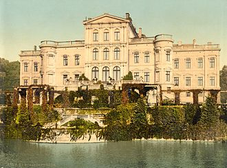 House of Putbus - The former Putbus Palace around 1900, demolished in 1962