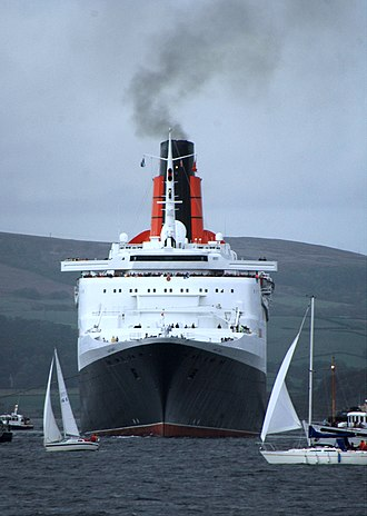 Queen Elizabeth 2 - QE2 back on the River Clyde for her 40th birthday