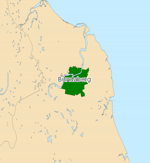 Electoral district of Bundaberg - 2008 Electoral map