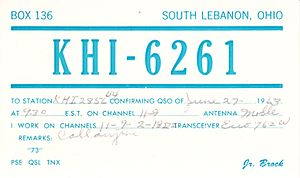 Citizens band radio - A QSL card issued by a US CB station in 1963.