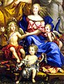 Queen Marie Thérèse and her children from the Family of Louis XIV by Nocret.jpg