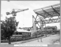 Queensland State Archives 3455 South approach junction of steel spans Nos 3 and 4 Brisbane 1 March 1937.png