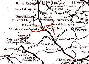 Réseau des Bains de Mer - Map showing the Réseau des Bains de Mer