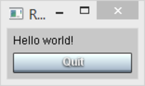 Rebol - R3-GUI Hello world example