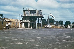 RAF East Wretham - Control tower at RAF East Wretham