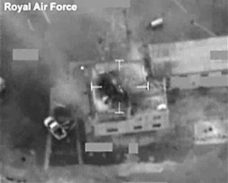 Operation Ellamy - Image: RAF Tornados Destroying Libyan Radar Station MOD 45155735